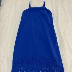 Blue straight cut dress from Banana Republic